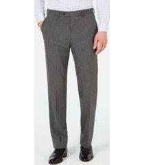 chaps men's classic-fit stretch wrinkle-resistant gray sharkskin suit pants