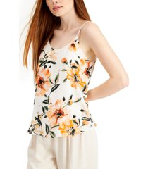 bar iii floral-print camisole top, created for macy's