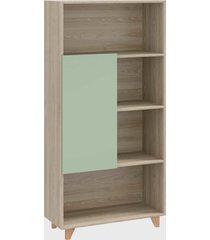 estante 1 porta aveiro/verde/verde be mobiliã¡rio - verde - dafiti