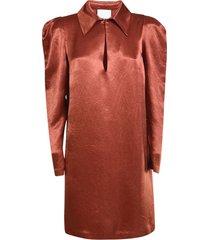 long-sleeve short dress