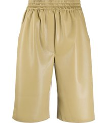 nanushka faux-leather shorts - neutrals