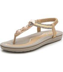 sandalo in metallo con sandali casual da spiaggia