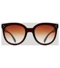 óculos de sol redondo feminino yessica marrom escuro