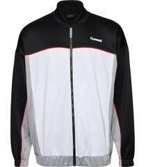 hmlarne zip jacket sweat-shirt tröja vit hummel hive