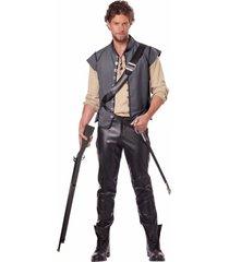 men's renaissance man captain john smith halloween costume set vest shirt belt