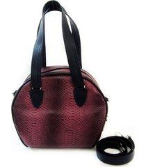 bolsa tiracolo/mão em couro maria adna roxo