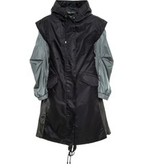 two-ways rainproof parka for woman