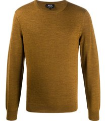 a.p.c. long sleeve sweater - brown