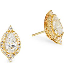 goldplated sterling silver, simulated diamond & crystal earrings