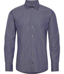 grey button-under poplin shirt skjorta business grå eton