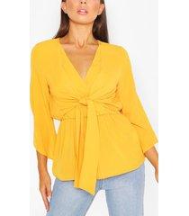 long sleeve top, yellow