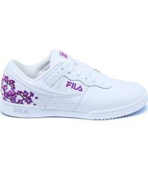 tenis blanco fila ws orig.fitness flor