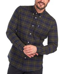 barbour men's tartan plaid oxford shirt