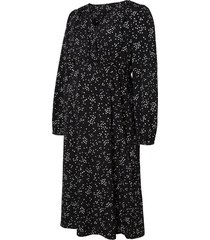 zwangerschapsmini-jurk gestippelde