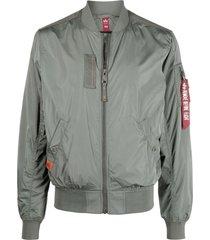 alpha industries green ma-1 parachute bomber jacket