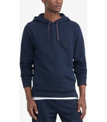 tommy hilfiger men's logo embroidered french terry hoodie