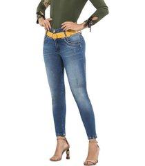 jeans colombiano control de abdomen fa azul bartolomeo