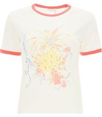 see by chloé spring fruits print t-shirt