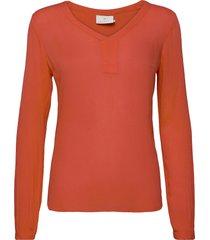 amber l/s blouse- min 2 blus långärmad orange kaffe
