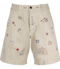dsquared2 prints and rhinestones shorts