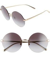 women's dolce & gabbana 62mm oversize gradient rimless round sunglasses -