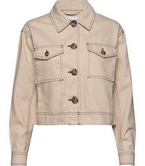 binasz jacket jeansjacka denimjacka beige saint tropez