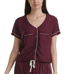 splendid piping trim pajama top