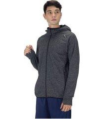 jaqueta com capuz oxer richmond evolution - masculina - cinza esc mescla