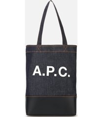 a.p.c. women's axelle tote bag - dark navy