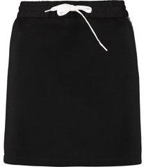miu miu logoed side bands mini skirt
