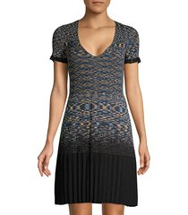 m missoni women's knit short-sleeve dress - navy - size 42 (6)