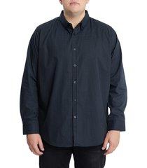men's big & tall johnny bigg fletcher stretch button-down shirt, size 7x-large - black