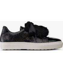 sneakers slip-in med fuskpälsdekor