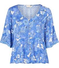 blus pretty printed blouse