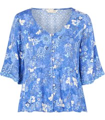 blus pretty printed blouse