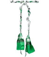 ermanno scervino tie-fastening silk belt - green