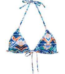 track & field bali bikini top - blue