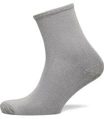 dina solid lingerie socks regular socks grå becksöndergaard