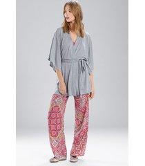 josie heather tees happi coat robe, women's, grey, size m natori
