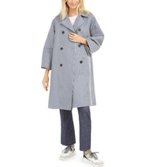 weekend max mara checked trench coat
