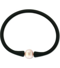 effy pink cultured freshwater pearl (11mm) silicone rubber bracelet