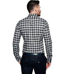 koszula bexley f2503 długi rękaw slim fit szary