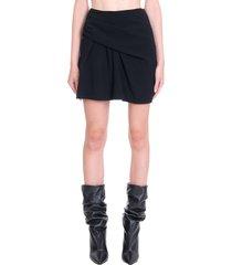 iro jouena skirt in black tech/synthetic