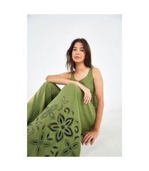 macacao bordado richelie verde tropicaleza-cancelado - pp