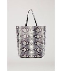 shopping bag snake double face off white
