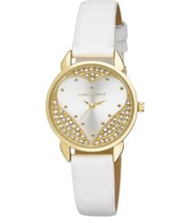 laura ashley designer white hearts watch