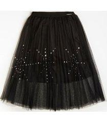 błyszcząca spódnica z siateczki