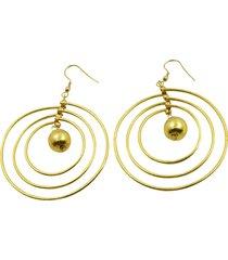 aretes de mujer orecchini 3 cerchi sfera brass colection by vestopazzo
