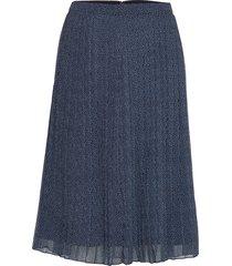 pleated midi skirt knälång kjol blå abercrombie & fitch