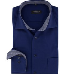 blauw overhemd eterna comfort fit
